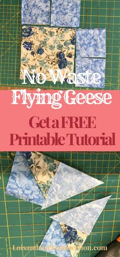 No Waste Flying Geese blocks in 5 easy steps! Make 4 blocks at once! Use the flying geese blocks for sawtooth star blocks and other quilt patterns. Triangle Quilt Tutorials, Beginner Quilt Patterns, Patchwork Patterns, Quilting For Beginners, Quilt Block Patterns, Quilting Tips, Quilting Tutorials, Pattern Blocks, Machine Quilting
