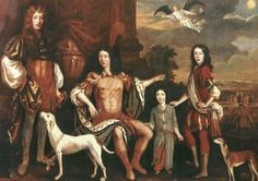 Patrick Lyon, Earl of Strathmore and Kinghorne with his 3 sons: John, Lord Glamis, Lord Charles Lyon and Patrick Lyon of Auchterhouse. Bowes Lyon, King Robert, Lady Elizabeth, Scottish Clans, Scotland Castles, My Family History, Princess Margaret, British Isles, Art History