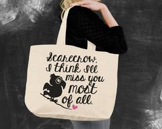 Miss You Wizard of Oz Tote Bag