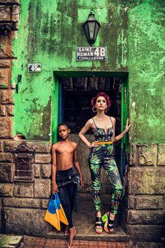 PARA TI MAGAZINE - Rio de Janeiro by Maru Cabrera, via Behance  pantsuit, platform shoes