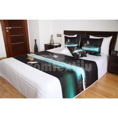 Biely prehoz na posteľ s večernou loďou Bed, Furniture, Home Decor, Decoration Home, Stream Bed, Room Decor, Home Furnishings, Beds, Home Interior Design
