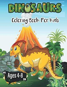 The Perfect Gift for Children's  Click the cover to see what's inside!  This #Dinosaur #Coloring #Book Like This Coloring #Dinosaurs Dot to Dot #Activity Book For #Kids to #Improve Their #Skills Dinosaur Activities, Book Activities, Toddler Drawing, Dinosaur Coloring, Cute Dinosaur, Books For Boys, Dinosaurs, Gifts For Kids, Good Books