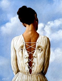"A rendition of the final piece ""She Stoops to Folly"" By Rafal Olbinski"