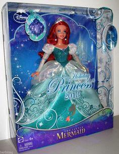 The Little Mermaid Dolls | Mattel DISNEY Ariel the Little Mermaid HOLIDAY PRINCESS 2013 - BRAND ...