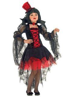 Kinderkostüm Vampirin, Vampirella Kostüm für Mädchen