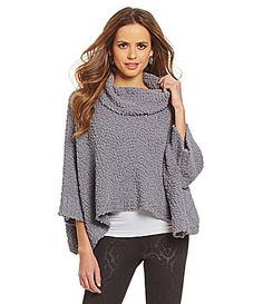 Gianni Bini Jacque Cropped Poncho Sweater #Dillards