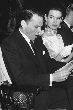 Frank Sinatra and Gloria Vanderbilt, 1954.