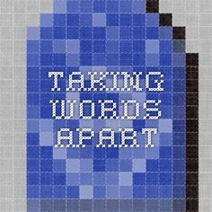 Taking Words Apart Guided Reading Questions, Handout, Reading Recovery, Reflection, Words, School Ideas, Horse