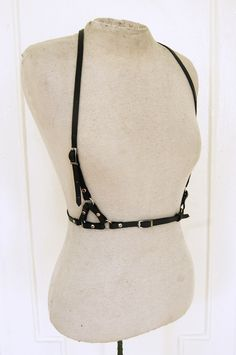gothy harness/belt. pair with super feminine florals