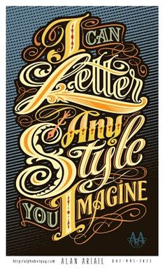 Hand Drawn Lettering by Alan Ariail
