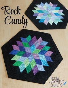 #rockcandyquilt - New table topper pattern from Jaybird Quilts
