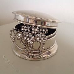 Antiques Atlas - Silver Jewellery Box,Mirrored Interior,Birm 1904