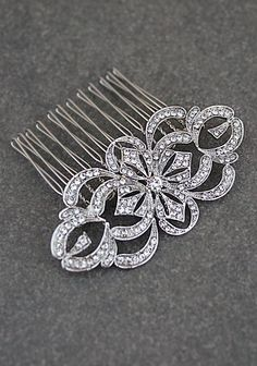 Victorian Style Wedding Crystal Bridal Hair Comb from EarringsNation Vintage Style Wedding Hair Styles