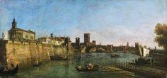 "Bernardo Bellotto- ""View of Verona with  Castelvecchio and Scaligero  bridge over the Adige"" -  1745 1746 - Oil in canvas Philadelphia Museum of art"