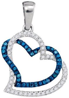 Ladies 10k White Gold 0.20 CTW Diamond Micro Pave Pendant - Weight 0.87gram ***Free Shipping To Continental U.S.A.*** 100% Secure Credit Card Checkout We guarantee that all products received from this