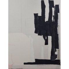 Sergei Jensen; Untitled, 2001  Sewn fabrics | Inspiration  __________ #design #art #fabric #textiles #sewnfabric #sergejjensen #textilework #textileart #burlap #lyrical #composition #minimalist #bleach #dye #canvas #abstract #abstraction #recycling #reuse #denmark #inspiration #monochrome