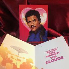 Lando Calrissian STAR WARS Valentine's Day Card! Nerdy Valentines, Valentine Day Cards, Star Wars Stickers, Lando Calrissian, The Big Lebowski, True Romance, Dark Lord, Waterproof Stickers, Christmas Cards