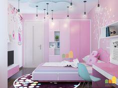 Thiết kế nội thất chung cư nhà anh Tuấn Anh - phòng ngủ con gái