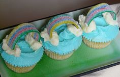 These rainbow cupcakes are really creative. It looks delicious and cute. Your little ones will surely love to eat this kind of cupcake. #cupcake #cupcakes