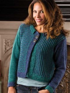 a2218464a6dbc3 Multidirectional Miters FREE knit cardigan pattern download. Find this  pattern at Free-KnitPatterns.