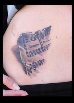 Music Tattoo.  Dream a Little Dream of Me