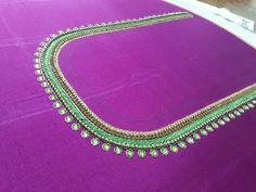 Aari Work Blouse, Blouse Designs, Turquoise Necklace, Jewelry, Fashion, Moda, Jewels, Fashion Styles, Schmuck