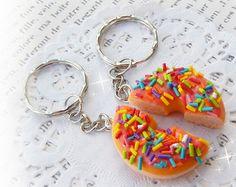 Rainbow KeyChain Kawaii Polymer Clay Keychain Cute Kawaii