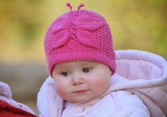 Lady Butterfly Baby Hat Knitting Pattern by ViTalinaCraft on Etsy