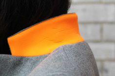 Collar detail in neoprene