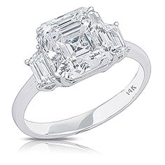 Maya Asscher with Trapezoids CZ Engagement Ring