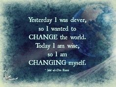 Change begins within!
