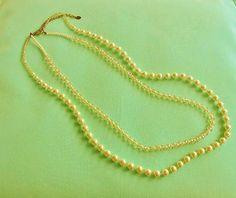 Vintage Aldo Double Strand Beaded Necklace by LaylaBaylaJewelry