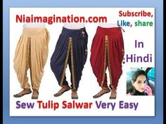 In this video i will show you How to make Latest Tulip shalwar cutting and stitching in hindi Punjabi Dress, Salwar Dress, Diy Fashion No Sew, Fashion Sewing, Women's Fashion, Dress Neck Designs, Blouse Designs, Clothing Patterns, Dress Patterns