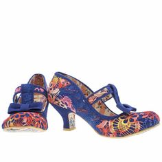 My new addition. Irregular choice multi lazy river rainbow crochet low heels