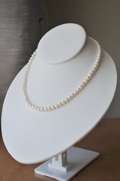 Ivory Freshwater Pearl Necklace - classic single strand lustrious - simple wedding jewelry for brides or everyday on Etsy, $48.14 AUD