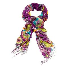 Fringe Scarf Perfect for the season, this pretty, lightweight scarf features your favorite new Vera Bradley color with details from its coordinating lining. Fringe embellishment on the ends makes this style extra special.