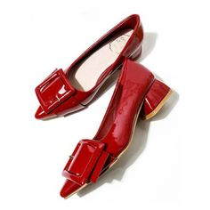 Burgundy Oversized Rentangle Buckle Featured Flats ($29) ❤ liked on Polyvore featuring shoes, flats, flat pumps, burgundy flats, buckle shoes, oversized shoes and flat heel shoes