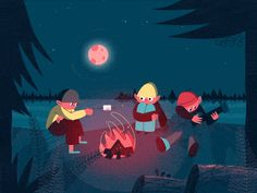 A short and quirky GIF animation of a campfire scene. Created as part of the Fundementals on After Effects course with the Motion Design School. Motion Design, Gifs, Design Thinking, Asmr, Fire Animation, Vector Animation, Design Ios, Graphic Design, After Effect Tutorial