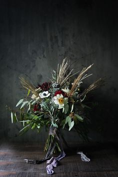 Wedding bouquet. This beauty, deep rich tones and sweetness
