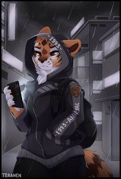 Modern Tigress by teranen on DeviantArt Furry Art, Furry Pics, Furry Wolf, Yiff Furry, Anime Furry, Anime Wolf, Anime Neko, Animal Drawings, Anime Characters