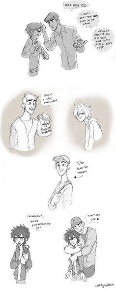 Hiro and Tadashi sketches by uponagraydawn - AWWWW! <3 <3 <3