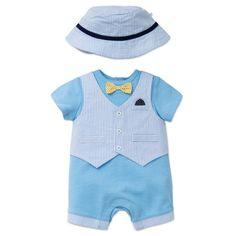 bae9a86af5b Little Me Dapper Chap Vested Romper and Hat Set · Baby Clothes SaleBaby Boy  ...