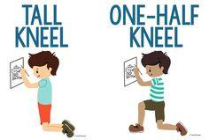 Tall Kneel and Half Kneel Position - Copyright ToolsToGrowOT.com