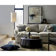 Tribeca Floor Lamp | Crate and Barrel / love the modern and clean simplicity....neutral colors with a punch