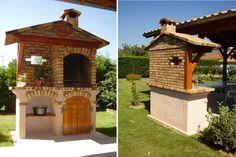 Gazebo, Bbq, Outdoor Structures, Cabin, House Styles, Outdoor Decor, Home Decor, Gardens, Brick Bbq