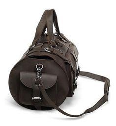 Vintage Handmade Antique Genuine Crazy Horse Leather Travel Bag Duffle - Tote / Messenger Bag