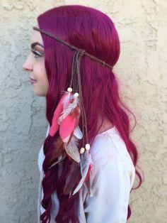 Chestnut Feather Headband #B1061
