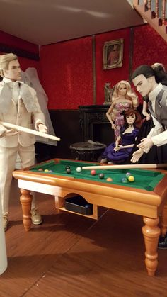 The pool table Barbie Room, Barbie Dolls, King William, Still Love Her, Valley Of The Dolls, Playrooms, Pool Table, Diy Dollhouse, House 2