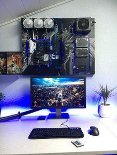 Gamephy pc gaming setup wallmount