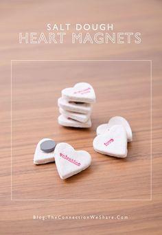 Salt Dough Heart Magnets – Valentine's Day Kid's Crafts